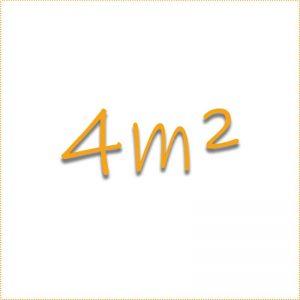 4 Quadratmeter