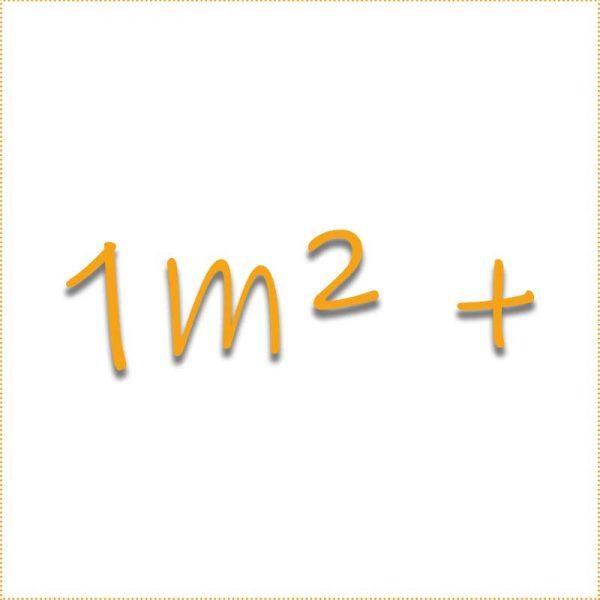 1 Quadratmeter +