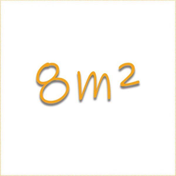 8 Quadratmeter
